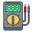 digital, electrician, electronic, equipment, hard, meter, multimeter, repair, voltmeter icon icon