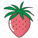 food, fruit, strawberry, sweet fruit icon
