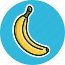 banana, diet, food, fruit, fruits icon