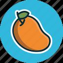 diet, food, fruit, fruits, mango, tropical fruit icon