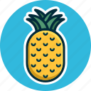diet, food, fruit, fruits, pineapple, tropical fruit icon