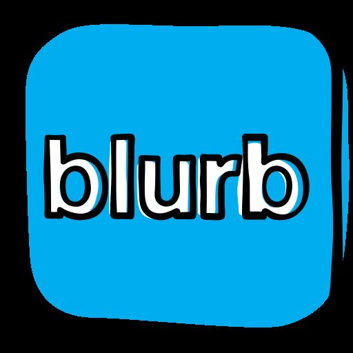 blurb, book, communication, media, network, reading, social icon