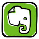 app, elephant, evernote, media, memory, network, notebook, social icon