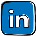 communication, job, linkedin, media, network, social, social media, web icon icon