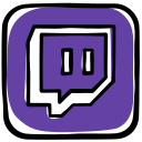 community, gamer, games, media, platform, social, twitch, video icon