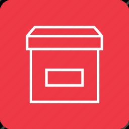 archive, box, file icon