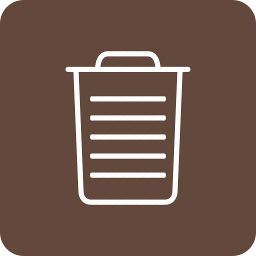 basket, bin, can, garbage, interface, trash icon