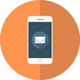 email, iphone, mail, mobile, phone, send, smartphone icon