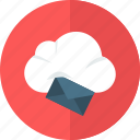 email, envelope, letter, mail, message, note, sky icon