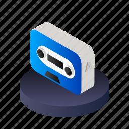 audio, media, music, player, record, sound, tape icon