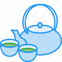 autumn, cup, drink, mid, pot, tea icon