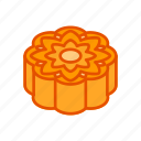 autumn, cake, festival, food, mid, mooncake icon
