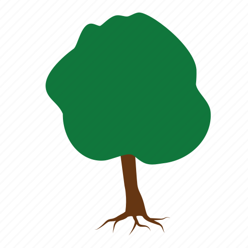 green, nature, root, roots, stump, tree, trees icon