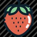 fruit, food, strawberries icon