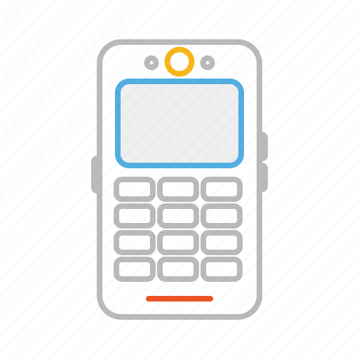 call, cell, cell phone, line, mobile, stroke, telephone icon