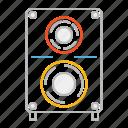 loudspeaker, sound, speaker, volume, stroke, louder, music, party, line, audio, sound system, woofer