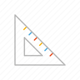 creative, design, designer, draw, line, measure, set square, stroke, tool icon