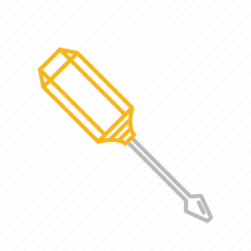 fix, line, repair, screw, screwdriver, stroke, tool icon