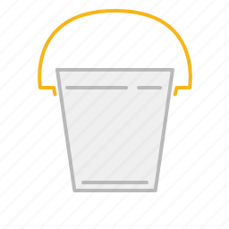 bucket, line, paint, stroke icon
