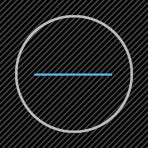 circle, dash, line, minus, remove, stroke icon