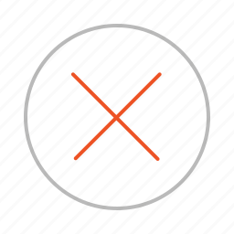 circle, close, closed, cross, line, multiply, stop, stroke icon