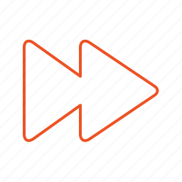 forward, line, music, next, player, speed up, stroke, triangle, video icon