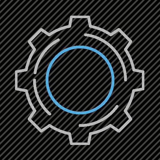 line, nut, setting, settings, stroke, wheel icon