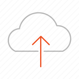 arrow, cloud, download, file, internet, line, stroke, up, upload, web icon