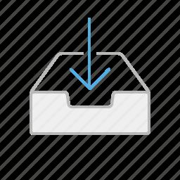 arrow, down, download, file, internet, line, stroke, upload, web icon