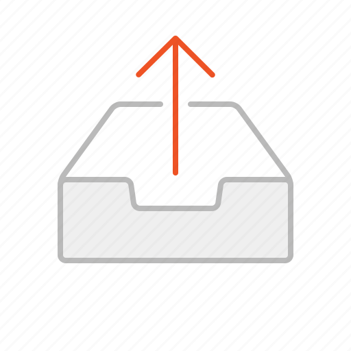 arrow, download, file, internet, line, stroke, up, upload, web icon