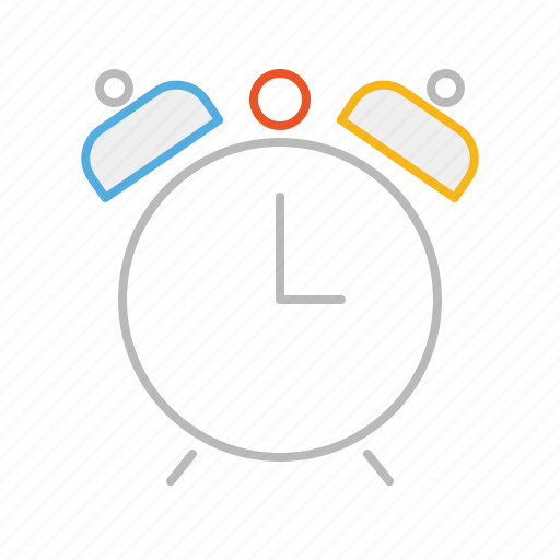 alarm, clock, hour, line, minute, ring, second, stroke, time icon
