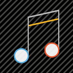 audio, instrument, line, melody, music, note, sound, stroke, tune icon