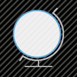 circle, globe, line, stroke, travel, world icon