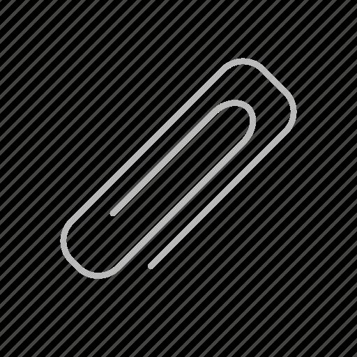 attach, attached, clip, enclosed, insert, line, paper clip, stroke icon