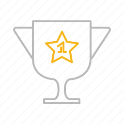 competition, cup, first, line, prize, race, reward, stroke, trophy, winner icon