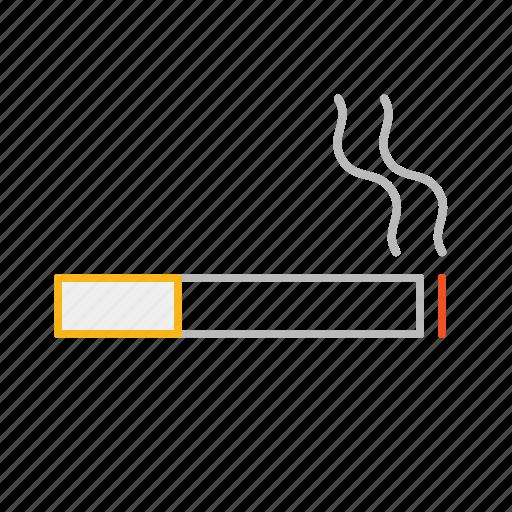 cigarette, ciggie, fag, line, smoke, smoking, stroke, tab icon