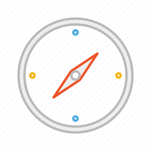 compass, direction, line, north, south, stroke, tool icon