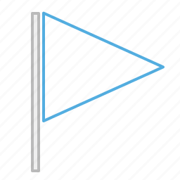 alert, ensign, flag, line, standard, stroke icon
