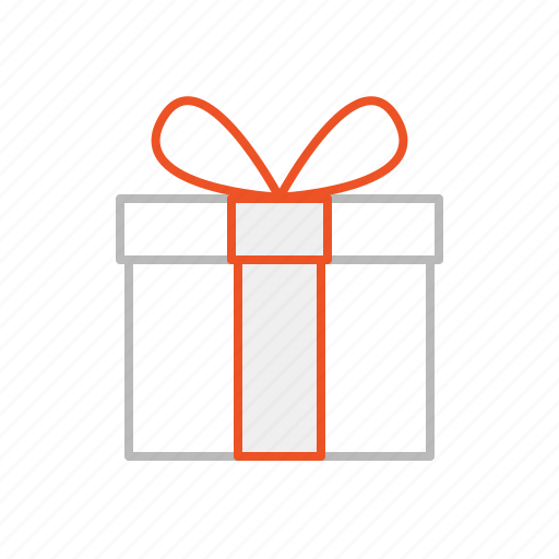 birthday, christmas, gift, line, party, present, stroke icon
