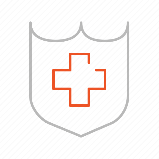 line, protection, safe, secure, security, shield, stroke icon