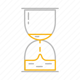 egg timer, hourglass, line, minute glass, stroke, time icon