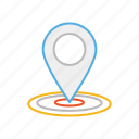 direction, gps, line, location, locator, map, stroke icon
