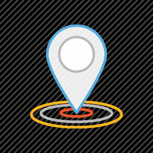 direction, gps, line, location, locator, map, stroke icon