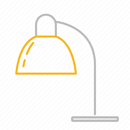 lamp, light, line, stroke, table lamp icon