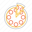 food, italian, italy, junk food, line, pizza, stroke icon
