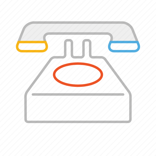 call, contact, line, phone, retro, ring, stroke, telephone icon
