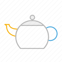 drink, england, healthy, hot, line, stroke, tea, teapot, uk icon
