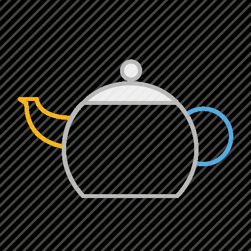 drink, england, healthy, hot, line, stroke, tea, teapot, uk icon