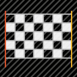 arrival, checked pattern, line, race, stroke, tartan icon