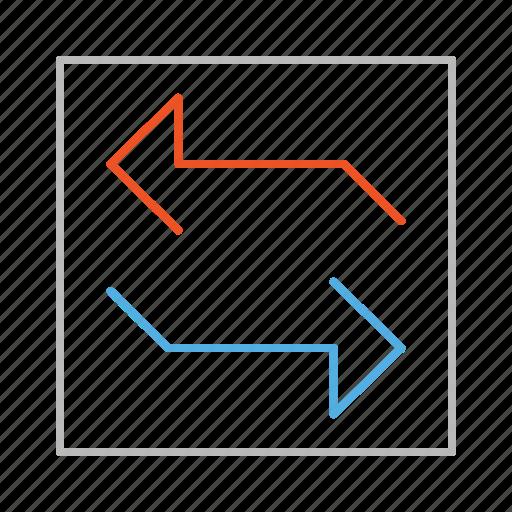 arrow, arrows, line, next, previous, refresh, stroke, update icon